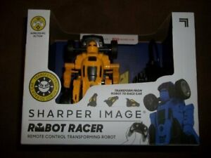 New Sharper Image Robot Racer Remote Control R/C Robot Wireless Transforms