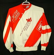 VINTAGE SWISS SKI SCHOOL TEAM 1988 WORLD EXPO COMMEMORATIVE WARM UP SHIRT MENS L