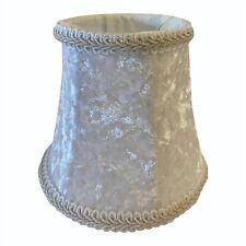 White Velvet Small Shade for : Chandelier , Table lamp, Floor lamp , Wall lamp