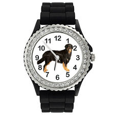 Hovawart Dog Crystal Rhinestone Mens Ladies Jelly Silicone Quartz Watch Sg387P