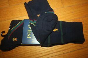 Brand New Polo Ralph Lauren Men's Club Trouser 2-Pack Socks SHIP FREE US FAST