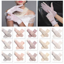 Women Floral Lace Gloves Wedding Party Prom Summer Driving Touch Screen Gloves