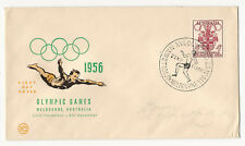 1956 MELBOURNE AUSTRALIA Olympic Games First Day Cover Vintage FDC