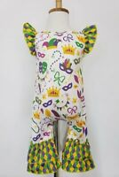 New Mardi Gras Baby Romper Size 6/12 mos By Clover Cottage