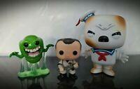 Ghostbusters Funko POP Figure Set Burnt Stay Puft Marshmallow Man Venkman Slimer