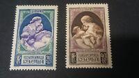 Lot de 2 Timbres France 1939 Pour la natalité N°440 & 441 YT