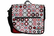 NEW ~ BNIB Baby Nappy Bag Change Mat Grey Red Retro Dots ~ Little Beetle GIFT