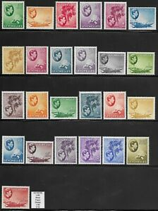 SEYCHELLES 1938-49 KG VI Set of 25 F-VF LHM Mixed Papers SG 135/149