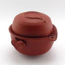 Zisha Red Stoneware Gaiwan Quick Gongfu Teapot Travel Tea Maker Cup 150ML