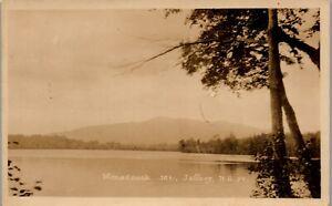 River view of Monadnock Mt Jaffrey NH RPPC Vintage Postcard PBA
