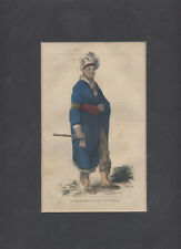 BEAUTIFUL ILLUSTRATED PORTRAIT OF MOHAWK LEADER JOSEPH BRANT