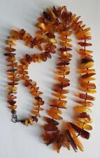 HUGE BALTIC VINTAGE HONEY, COGNAC AND BUTTERSCOTCH AMBER NECKLACE TIED KNOTS!