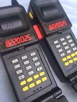 1994 Saban Mighty Morphin Power Rangers Flip Phone Walkie-Talkies Used Good Cond