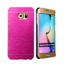 Coque Etui Housse Aluminium Rose pour Samsung Galaxy S6 Edge