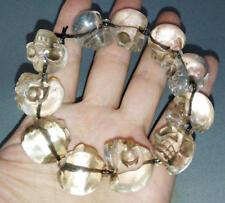 Tibet Tibetan Buddhist Crystal Skull Bracelet Bangle 18mm x 15mm x 21mm