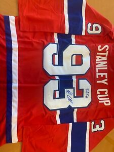 Patrick Roy / John Leclair AUTOGRAPHED Montreal Canadians Stanley Cup Jersey