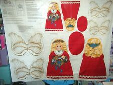 Christmas Angel Doll Fabric Panel Sewing Project Cranston Cut Sew Cotton Vintage
