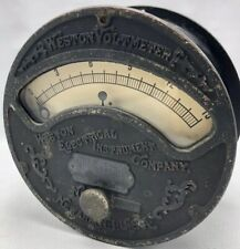 1890s WESTON ELECTRICAL INSTRUMENT Co Large VOLTMETER Gauge Steampunk Untested