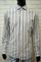 Camicia Uomo TOMMY HILFIGER Taglia XL Slim Manica Lunga Cotone Shirt Man Maglia