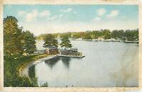 Postcard Men's Baithing House, Lake Quinsigamond, Worcester, MA