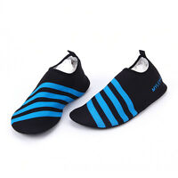 Men Women Surf Aqua Beach Water Socks Shoes Slip on Sport Yoga Swim Diving Blue