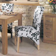 *NEW* 2 x Baumhaus MOBEL OAK Upholstered Dining Chairs COR03B SRP £299 (1 of 4)