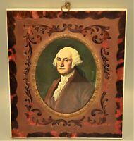 Antique Original Signed George Washington Portrait Miniature Wyeth Oil Painting