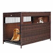 "Destar Heavy Duty Pe Rattan Wicker Pet Dog Cage Crate (Large - 29"" W x 32"" H)"