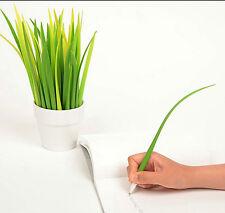1* Creative Pen Grass Roller Ball Pen Gel Pens-0.38mm Black ink Stationery Gift