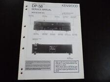 Original Service Manual  Kenwood DP-58