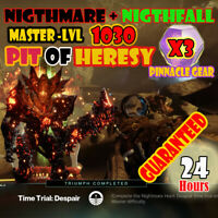 Destiny 2  Nightfall 100K + Nightmare Hunt 1080 + Pit of Heresy - PS4/CROSS-SAVE