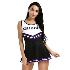 Sexy-Women School Girl Uniforms Air Hostess Cheerleader Outfits Costume S