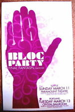 BLOC PARTY 2007 Gig POSTER Seattle & Portland Oregon Concert