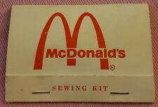 Vintage McDonalds Travel Sewing Kit