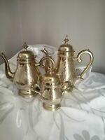 Vintage EPNS Tea Set of Teapot, Coffee or Hot Water Pot and Sugar Bowl