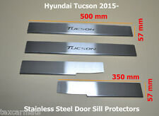 Hyundai Tucson 2015-2017 Stainless Steel Door Sill Guard Covers Scuff Protectors