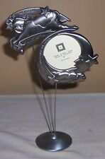 ~~ MATTE SILVER GRAY PLASTIC FIGURES ~~ COW JUMPED OVER THE MOON  PICTURE FRAME
