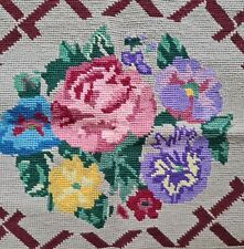 C 1940s Art Deco Tapestry Piece for Upholstery Pink Rose Purple Violet
