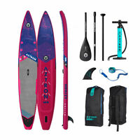Aztron METEOR Inflatable SUP Race 14' Double Chamber & Layer  Pump, Paddle & Bag