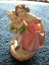 """Royal Worcester-F.G. Doughty-Sister-Figurine-3 149-England-Porcelain-7 1/8"""" tall"""