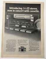 1978 Delco-GM Electronics Car Cassette Tape Player Full Page Print Magazine Ad