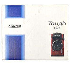 Olympus Tough Waterproof TG-5 Digital Camera (Red) - 12MP, 4K 30FPS Video