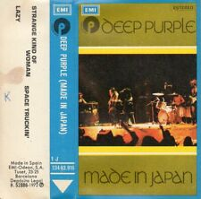 "DEEP PURPLE ""MADE IN JAPAN"" RARE FIRST PRESSING SPANISH CASSETTE / EMI 1972"