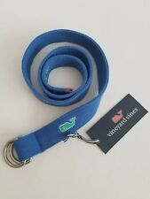 Vineyard Vines Boys Belt Embelished Whales D-Ring Tide Blue Size Xl Nwt