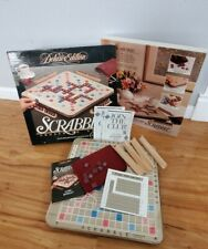1989 Milton Bradley 4034 Scrabble Deluxe Edition Board Game - Rotating Turntable