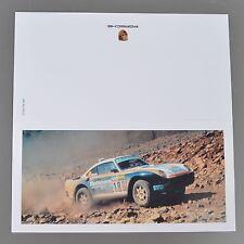 ✇ Carte de voeux rothmans porsche 959 groupe B rallye Dakar 1980er-ans