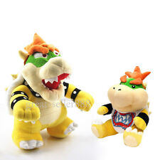 2X Super Mario Standing King Bowser/Jr. Koopa Plush Toy Nintendo Stuffed Animal