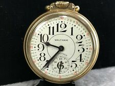 Pocketwatch Sn# 33747807 *Working 1952 Waltham 21 Jewels