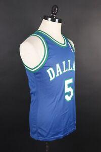 Vintage 90's Champion Jason Kidd # 5 Dallas Mavericks Men 40 Basketball Jersey