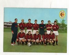 CALCIO  MILAN  1966/67 CARTOLINA  ICEA     VIAGGIATA  10,5 X 14,5
